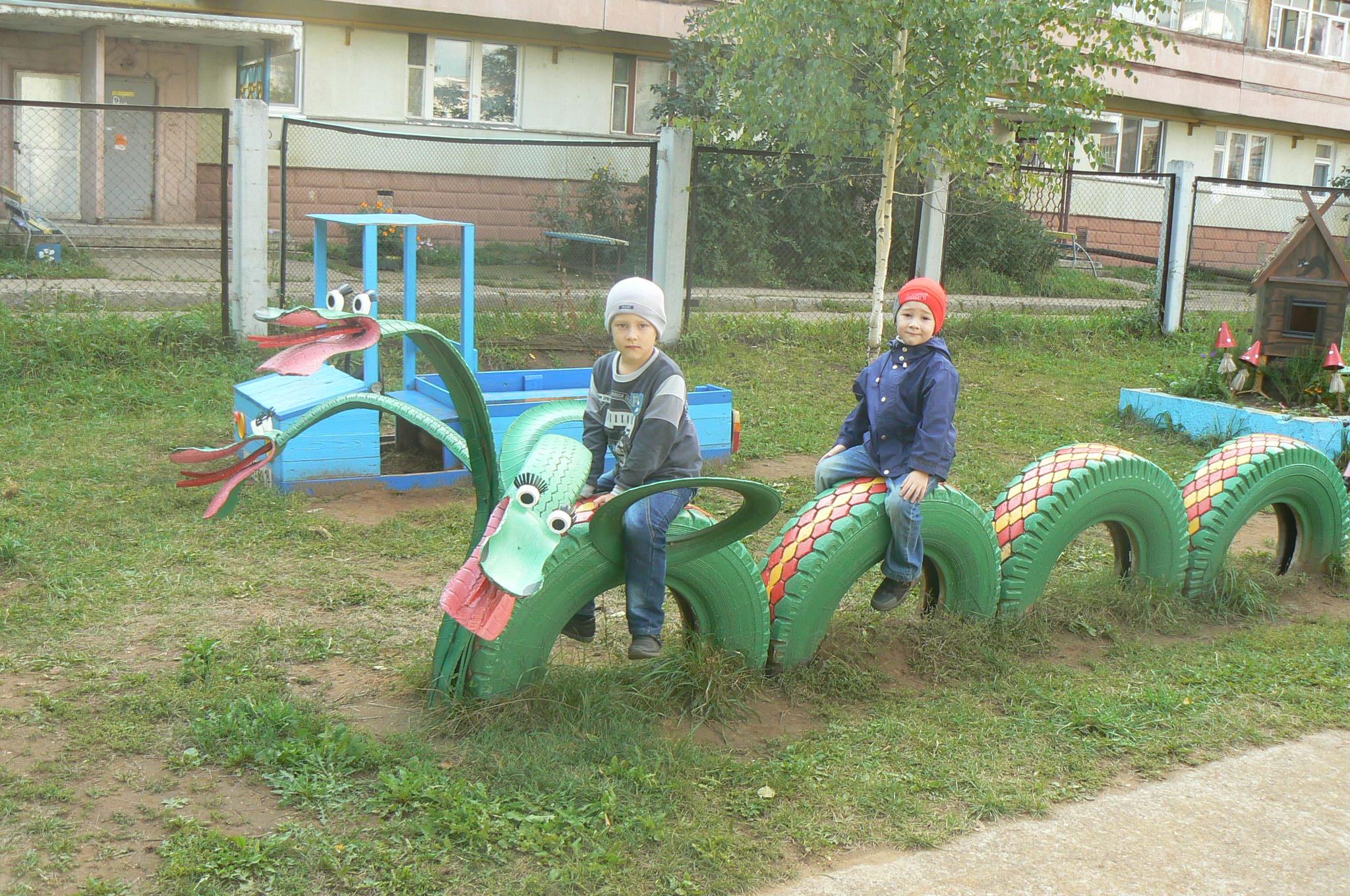 Фото идеи на площадке в детском саду